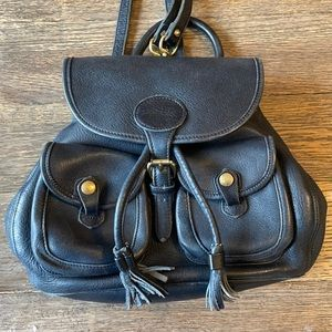 Dooney & Bourke Vintage Navy All-Weather Leather Mini Backpack